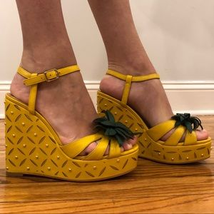 Late Spade wedge sandals